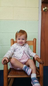 The nursery worker took this photo of Emma today!