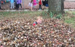 Playing in the leaves!