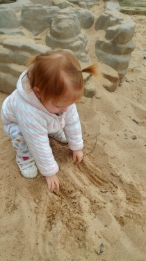 Playing in the sand!