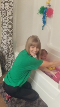 Emma's bath time!