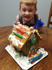 David's first gingerbread house