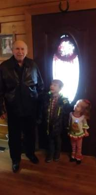 Headed to church with Papa and Nana